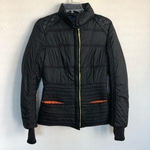Elie tahari puffer hooded thumb holes jacket XS